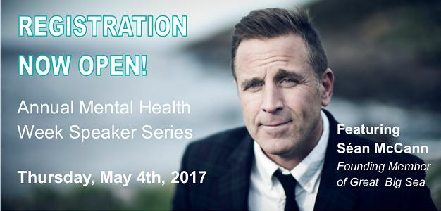Sean McCann Headlines 2017 Mental Health Week Speaker Series!