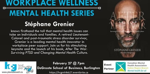 Workplace Wellness Mental Health Series: Stephane Grenier
